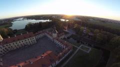 Niasvizh castle, Belarus Stock Footage