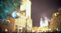 Crowded city square on Christmas Eve, people enjoying winter holidays atmosphere 4k or 4k+ Resolution