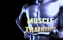 Stock Illustration of Muscle training