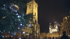 Stock Video Footage of Famous medieval astronomical clock at Old Town Square in Prague, Czech Republic