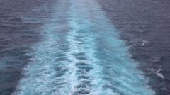 Beautiful Caribbean Ocean cruise ship wake HD Stock Footage