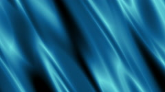 Blue Cyan Silk Curtain_Cloth and Fabric Background - stock footage