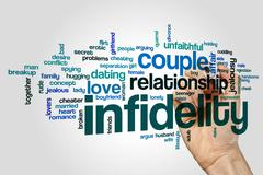 Infidelity word cloud concept Stock Illustration