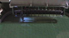 embroider machine - stock footage