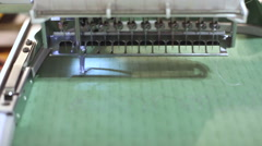Stock Video Footage of embroider machine