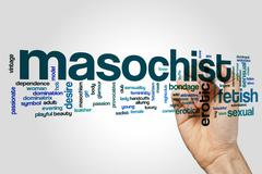 Masochist word cloud concept Stock Illustration