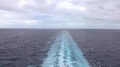 Caribbean Ocean beautiful wake behind cruise ship HD  Stock Footage