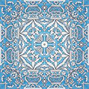 Ceramic tile - color kaleidoscopically generated background, seamless - stock illustration