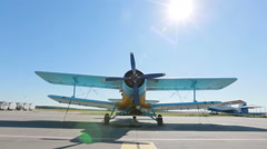 Mogilev, Belarus. The An-2 Aircraft - stock footage
