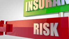 Insurance Risk - stock footage