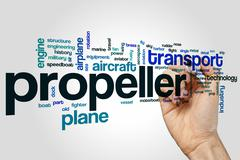 Propeller word cloud concept - stock illustration