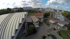 Vitebsk, Belarus - August 5, 2015: Summer amphitheater - stock footage