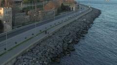 Coast Road, Istanbul. Stock Footage