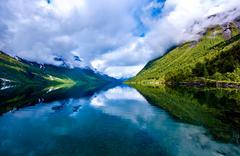 Beautiful Nature Norway. - stock photo