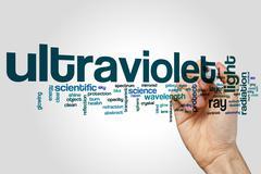 Ultraviolet word cloud concept - stock illustration