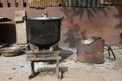 Local stove kitchen outdoor Stock Photos