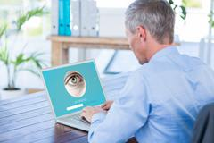 Composite image of iris recognition Stock Photos