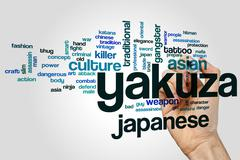 Yakuza word cloud concept - stock illustration