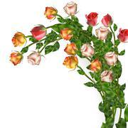 Celebration background with flowers. EPS 10 Stock Illustration