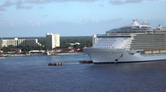 Cozumel Mexico cruise ship Allure of the Seas HD Stock Footage