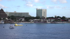 Cozumel Mexico cruise ship tourist marina resort early evening HD Stock Footage