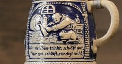 Vintage German Beer Stein 4k Stock Footage