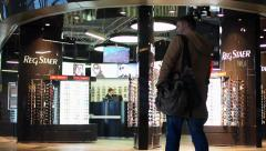 RegStar Duty Free Shop At Vnukovo (VKO) Airport, Moscow, Russia - stock footage