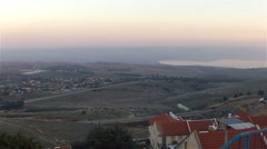 Panoramic views of the Golan Heights and the Sea of Galilee - stock footage