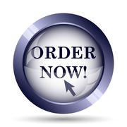 Order now icon. Internet button on white background.. - stock illustration