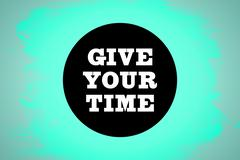 Stock Illustration of Composite image of give your time
