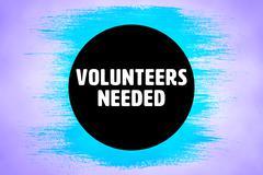 Composite image of volunteers needed Piirros