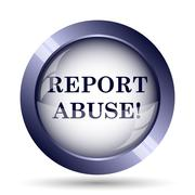 Stock Illustration of Report abuse icon. Internet button on white background..
