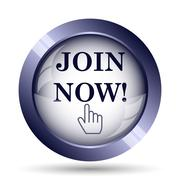 Stock Illustration of Join now icon. Internet button on white background..
