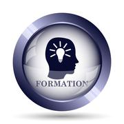 Formation icon. Internet button on white background.. - stock illustration