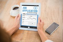 Composite image of telephone job application app Stock Photos