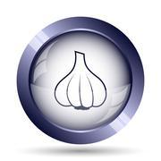 Stock Illustration of Garlic icon. Internet button on white background..