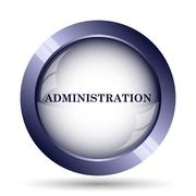 Administration icon. Internet button on white background.. - stock illustration