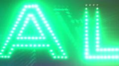 AL letters Stock Footage