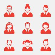 Business people avatar icons. Vector illustration.User sign icon. Person symbol - stock illustration