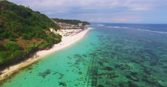 Beach Aerial View, Padang-padang Beach, Indonesia Stock Footage