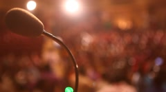 Microphone at Auditorium Stock Footage