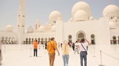 Sheikh Zayed Grand ABU DHABI and people Stock Footage