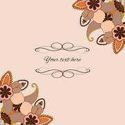 Ornamental pattern for wedding invitations and greeting cards. - stock illustration
