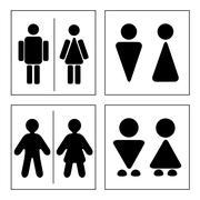 A man and a lady toilet sign - stock illustration