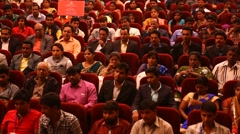 Indian People in the Auditorium Stock Footage