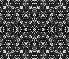 Lace vector fabric seamless  pattern with flowers - stock illustration