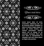 Vector ornamental invitation card. Template handmade lace design for card. Stock Illustration