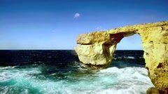Gozo, azure window - stock footage