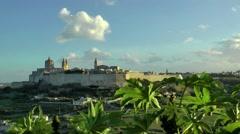 Mdina, Malta, in warm afternoon light Stock Footage
