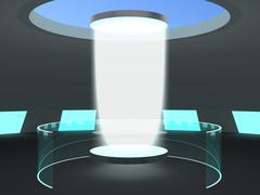 Laboratory teleportation portal Stock Illustration